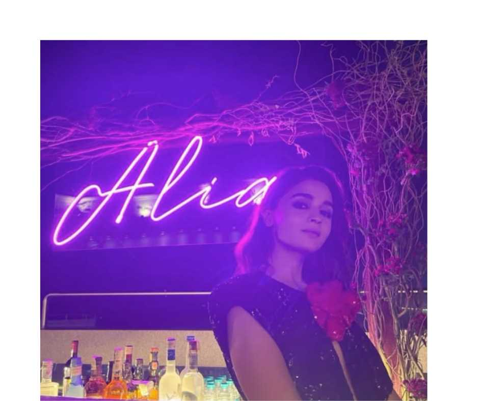 'Love & the light...': Alia Bhatt shares stunning picture in black shimmery dress from her birthday bash | See Photo