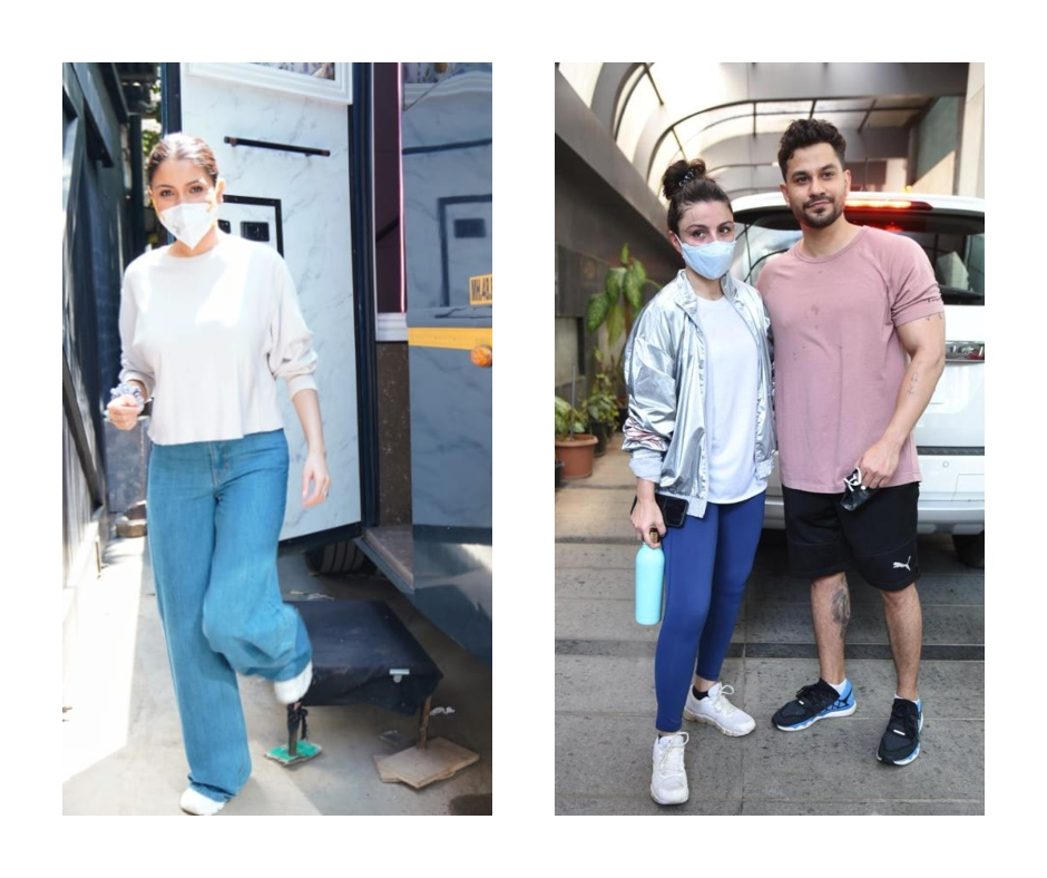 In pics: Anushka Sharma back to work post Vamika's birth, while Soha Ali Khan spotted with hubby