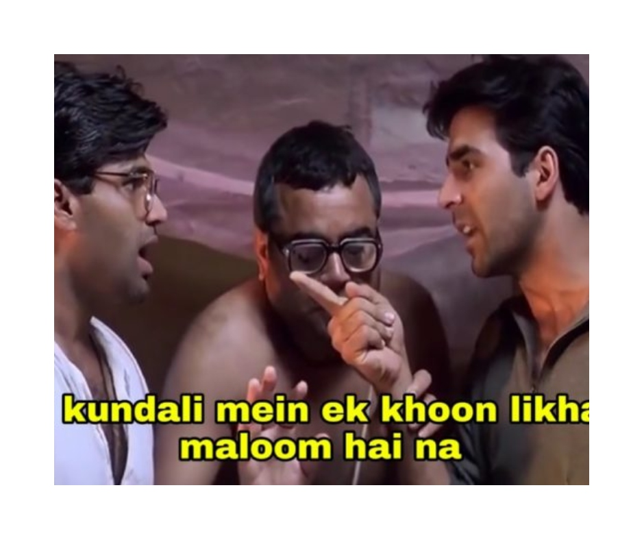 21 years of Hera Pheri: Check out hilarious memes of Akshay Kumar, Suniel Shetty and Paresh Rawal's film