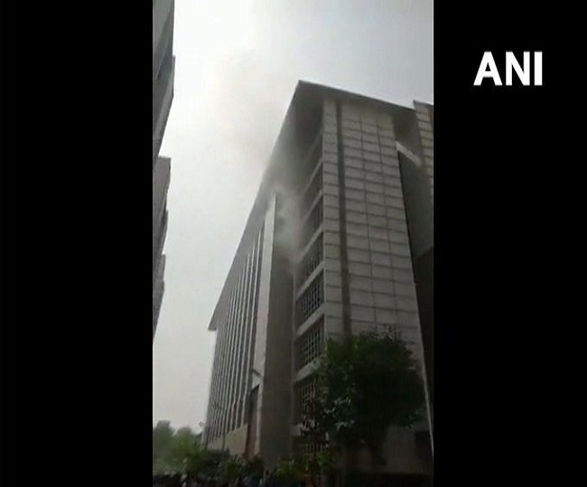Massive fire breaks out at ESIC Hospital in Noida; firefighting operations underway