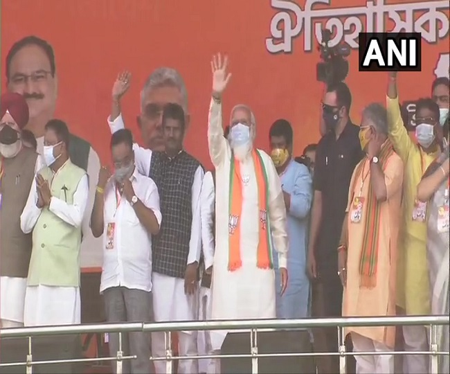 West Bengal Polls: At Kolkata mega rally, PM Modi slams didi for betraying Bengal, calls for 'asol parivartan'