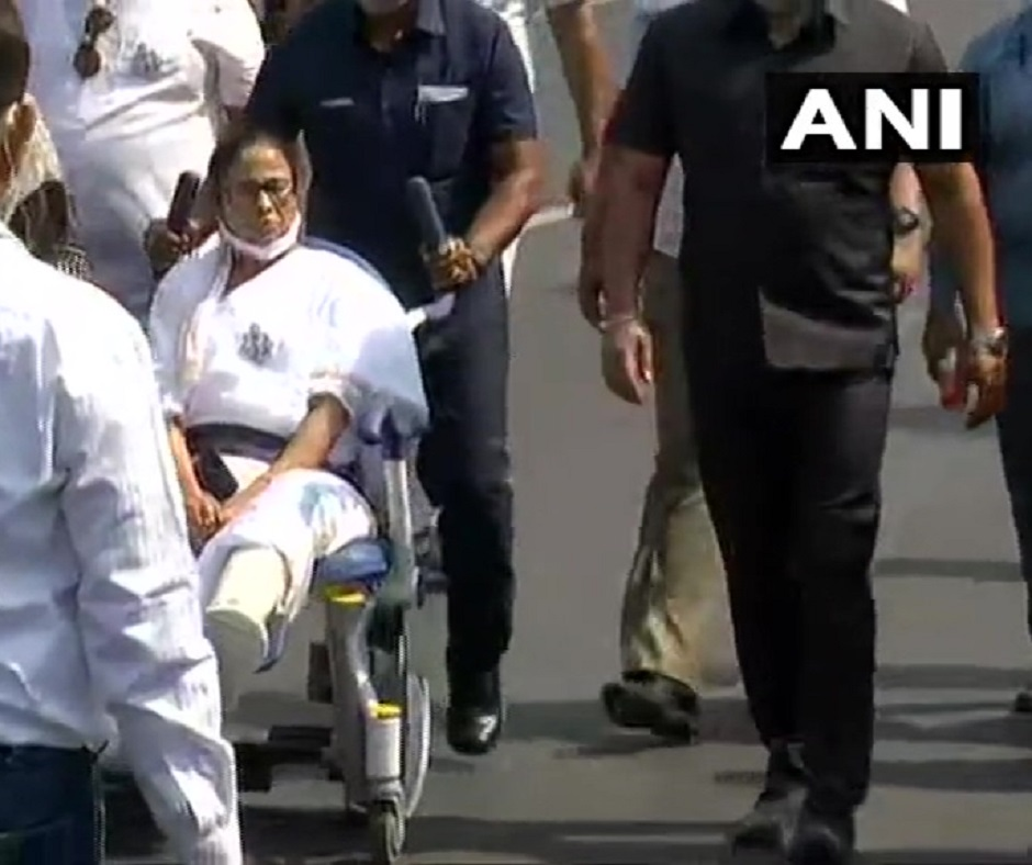 West Bengal Polls: Mamata Banerjee holds roadshow on wheelchair in Kolkata, reveals why she is contesting from Nandigram