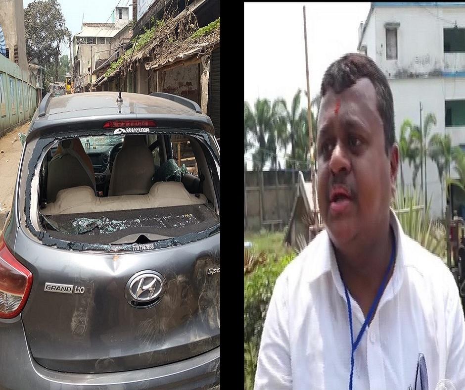 West Bengal Polls: BJP leader Soumendu Adhikari's car attacked in Contai, brother Dibyendu blames TMC