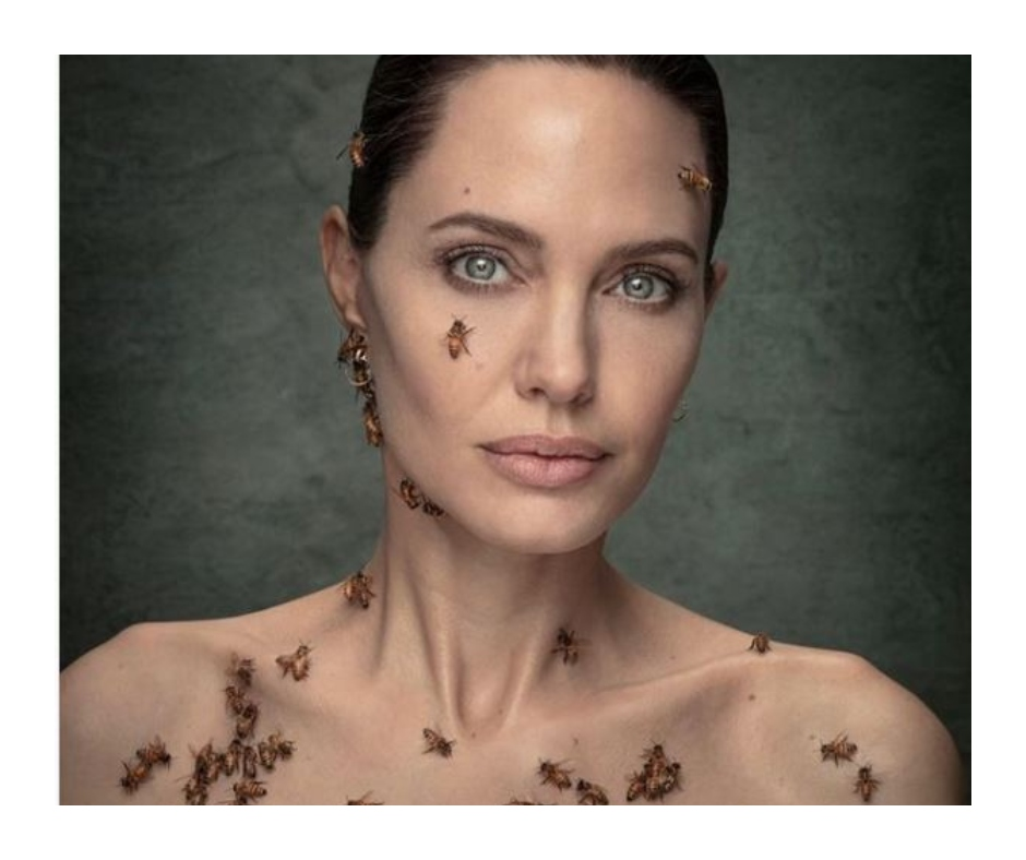 Angelina Jolie's latest photoshoot covered in bees will blow your mind | See pics and video