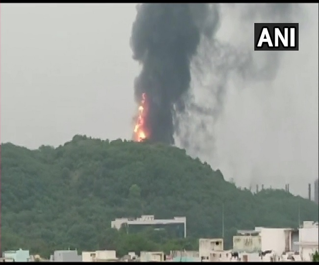 Massive fire breaks out at HPCL plant in Visakhapatnam; five fire tenders rushed to spot