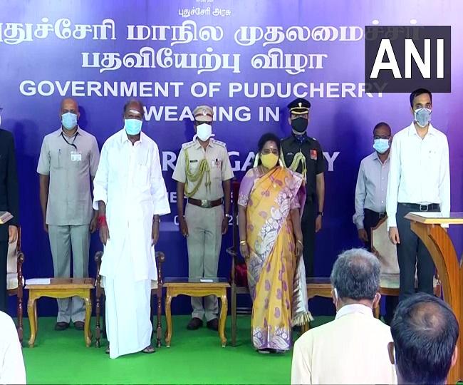 NR Congress president N Rangasamy sworn-in as chief minister of Puducherry