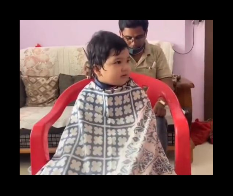 Cuteness Alert! New haircutting video of viral baby Anushrut wins hearts on social media   Watch
