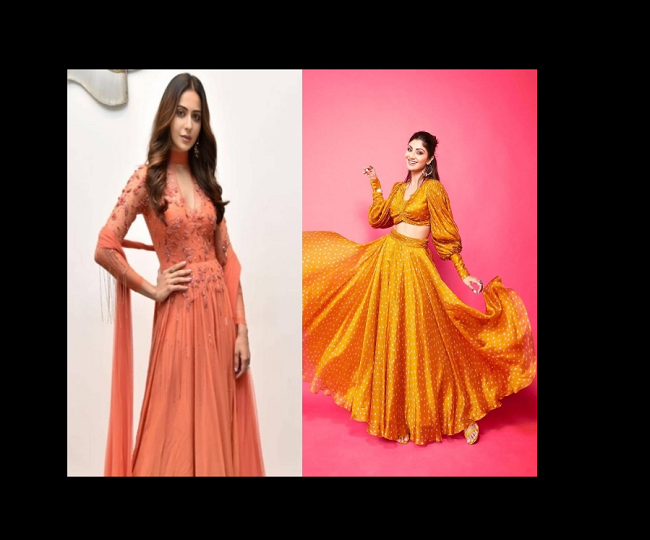 Navratri 2021: Orange outfit inspirations from Bollywood divas for day 4