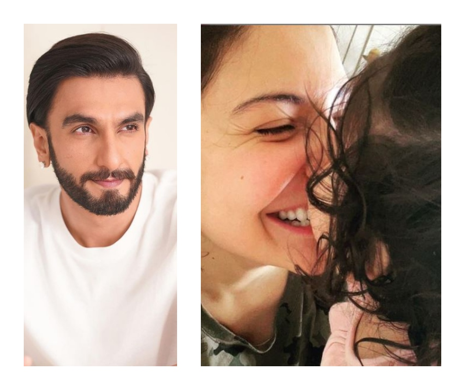 Anushka Sharma shares aww-dorable picture with daughter Vamika; Ranveer Singh goes 'Oh-lay!'