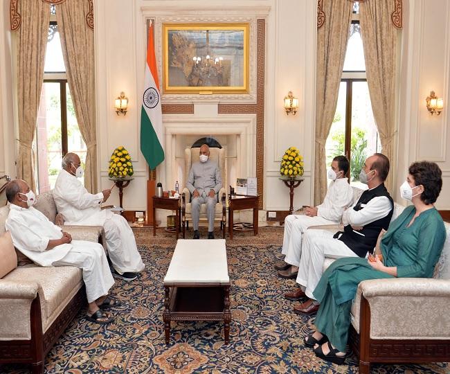 'President will talk to govt today': Congress after meeting Ram Nath Kovind over Lakhimpur Kheri violence