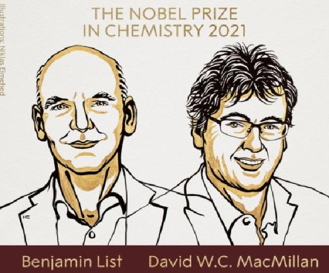 Benjamin List and David WC MacMillan awarded 2021 Nobel Prize in Chemistry 'for development of asymmetric organocatalysis'