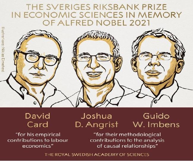 2021 Economic Nobel prize awarded to David Card, Joshua Angrist and Guido Imbens