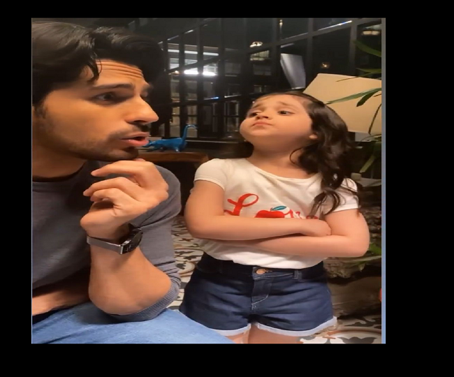 Sidharth Malhotra recreating Shershaah dialogue with little Kiara is the most adorable thing on internet today | Watch