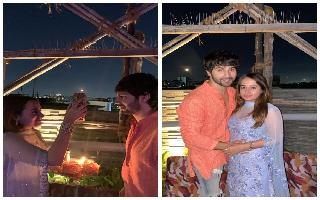 Varun Dhawan shares first Karwa Chauth pics with wife Natasha Dalal; 'Is..