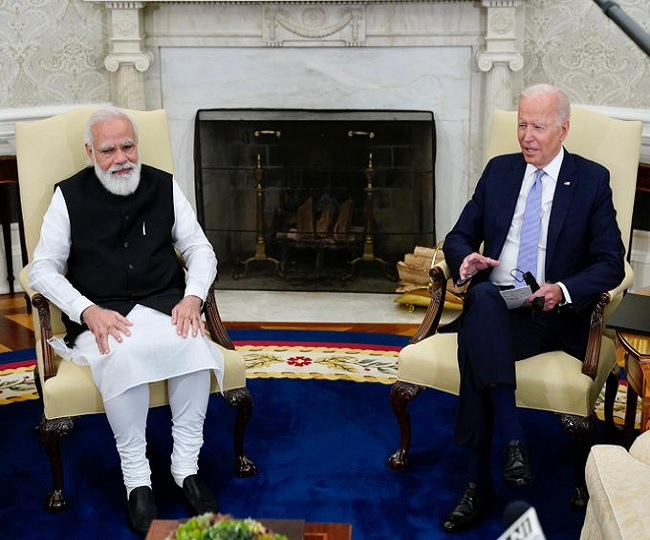Joe Biden jokes about his 'possible India connection' during meet with PM Modi in US