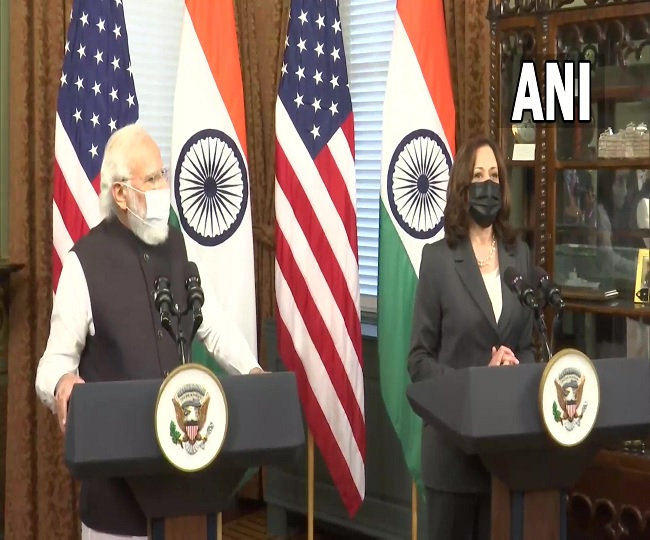 Modi in US: PM praises Kamala Harris as 'source of inspiration', invites her to India | Highlights