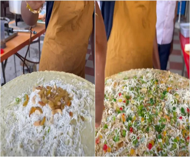 'Dilkhush Dosa an abomination': Twitter reacts to dosa filled with dry fruits and cheese; see reactions here