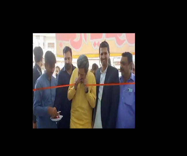 Pakistan Minister leaves internet in splits with his unique way of cutting ribbon; watch viral video here