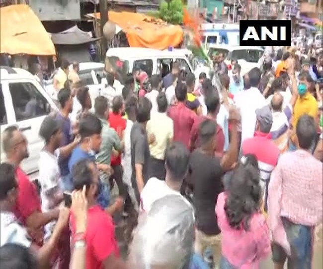 Ahead of by-poll, TMC, BJP workers clash in Bhabanipur, Dilip Ghosh allegedly manhandled; EC seeks report from govt