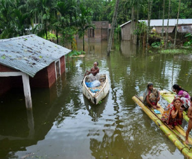 Crops destroyed, villagers relocated as heavy rains lead to floods in Assam, Bihar and Uttar Pradesh