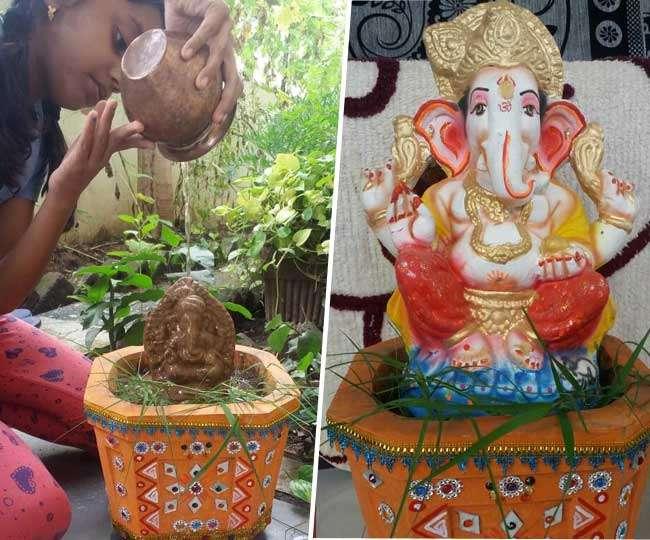 Ganesha Chaturthi 2021: 4 easy ways to create eco-friendly Ganesha idol at home