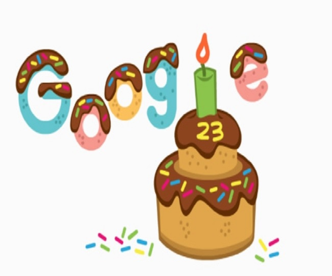Google celebrates its 23rd birthday with unique cake-themed doodle
