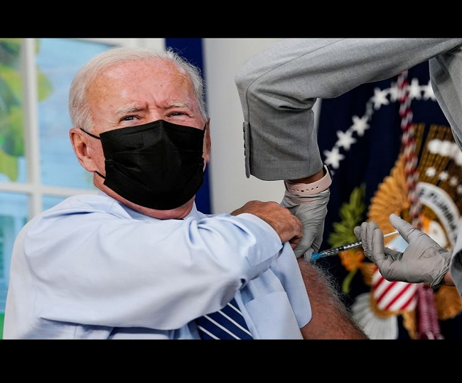 President Joe Biden gets COVID-19 booster shot as US rolls out additional doses