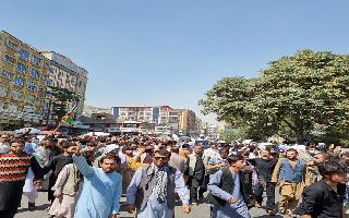 Taliban fire shots to disperse protesting crowd against Pakistan's..