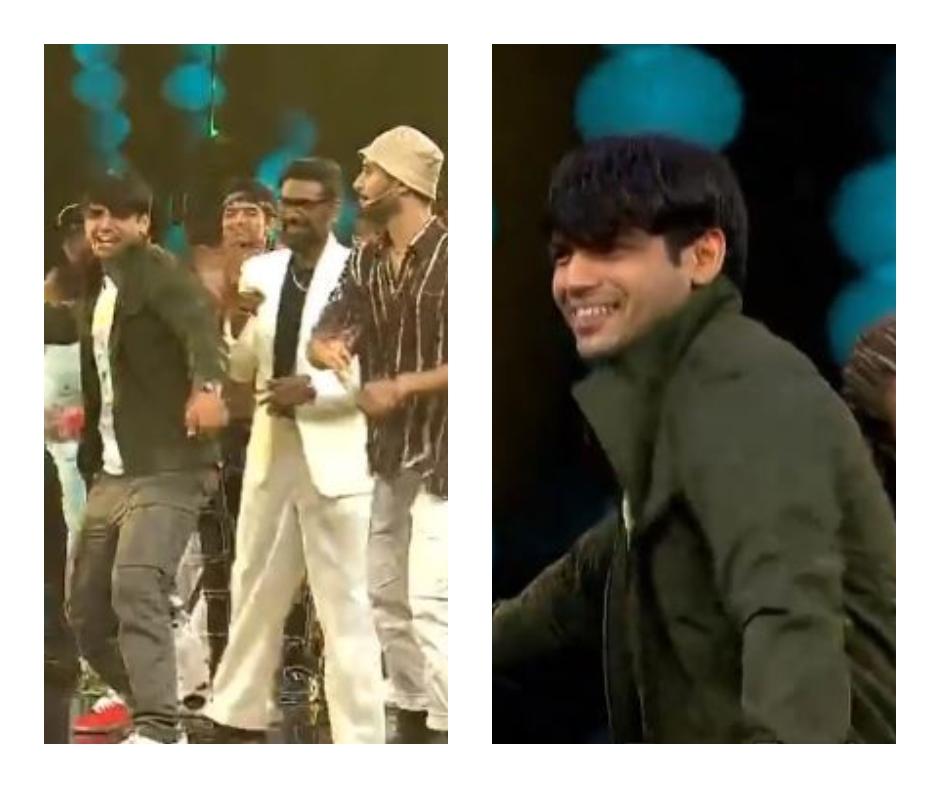 Dance+ 6: Neeraj Chopra shows off his dancing skills with Remo and Raghav Juyal on Sukhbir's 'Taare Gin Gin' | Watch
