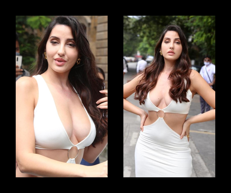 Nora Fatehi oozes glamour in sultry bodycon dress with plunging neckline | See pics