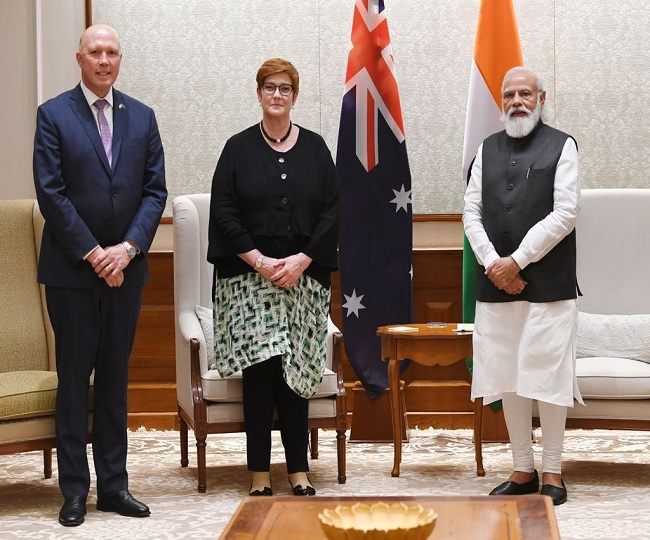Australian foreign, defence ministers meet PM Modi, discussed shared commitment for 'open, inclusive' Indo-Pacific region