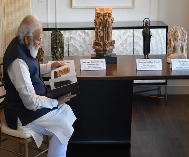 PM Modi to bring home 157 priceless artefacts, antiquities thousands of years old from US