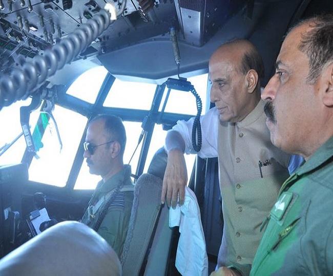 Watch   IAF aircraft carrying Rajnath Singh, Nitin Gadkari lands at Emergency Field Landing in Rajasthan