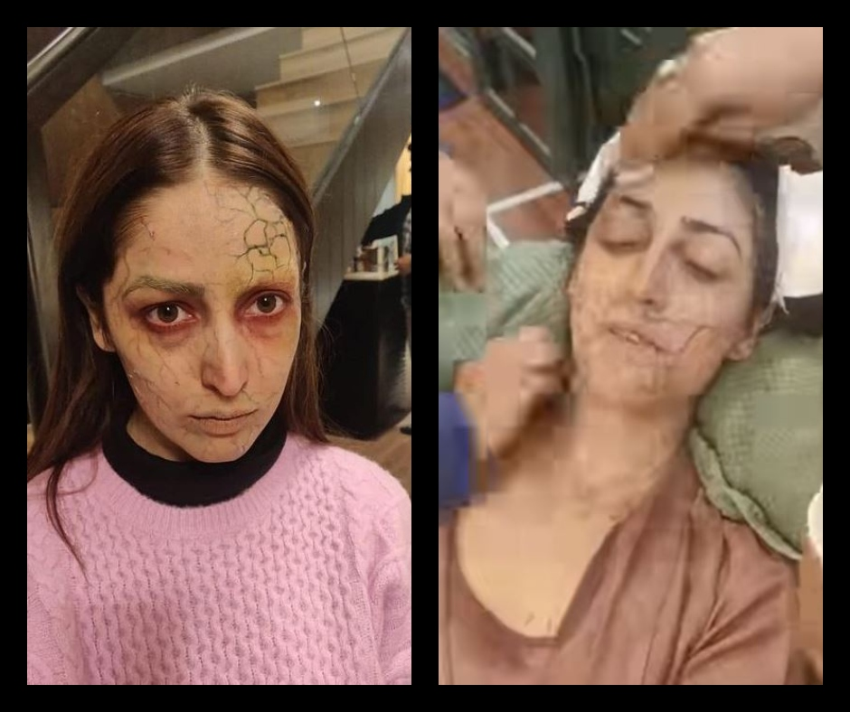 Yami Gautam shares the BTS glimpse of her spooky, possessed look from 'Bhoot Police'; fans say 'Well done' | See pic and videos